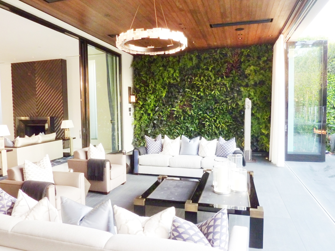 Chris Bribach, Plants On Walls. Beverly Hills Private Residence. Florafelt System.
