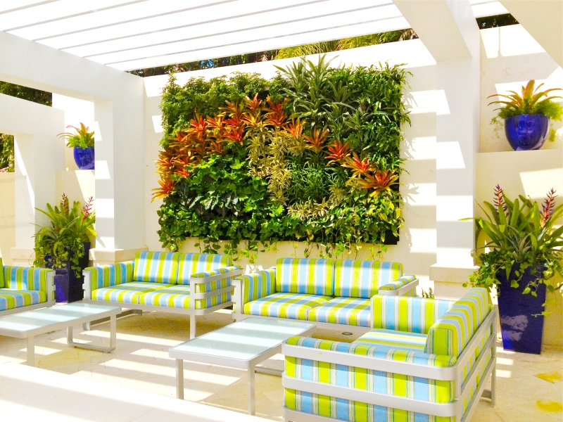 Florafelt vertical garden by Jeff Allis for St. Andrews Country Club, Boca Raton, Florida