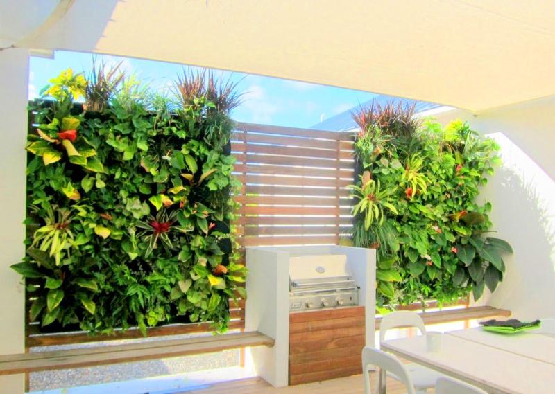 Florafelt Vertical Garden in Doral, Florida. http://PlantsOnWalls.com