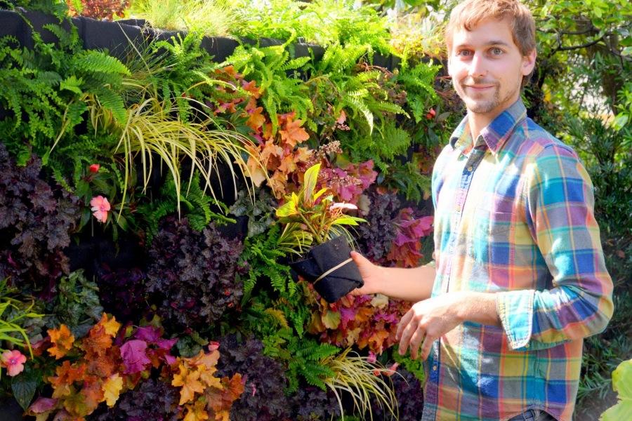 Florafelt Vertical Garden by Brandon Pruett, Living Green Design, San Francisco.