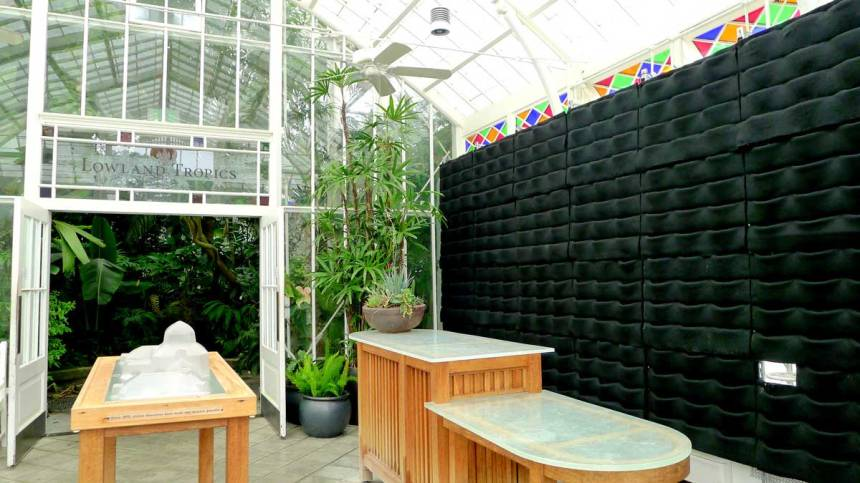 Florafelt Vertical Garden Planters donated by Chris Bribach of Plants On Walls. Conservatory Of Flowers, San Francisco.